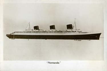 PAQUEBOT S.S NORMANDIE - Carte postale glacée Angleterre - Anonyme Réf. ANOE 2-1 PSB
