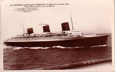 S.S NORMANIDIE - Carte postale glacée ANOG-1-647-R