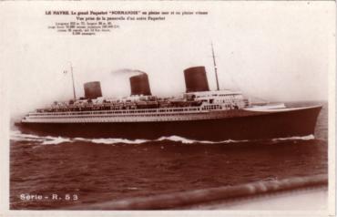 S.S NORMANIDIE - Carte postale glacée ANOG-1-2-R53-R