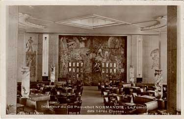 PAQUEBOT S.S NORMANDIE - Carte postale Noir et blanc glacée - Editeur : ANONYME - Réf. Site : ANOG 12-1-R104 PSB