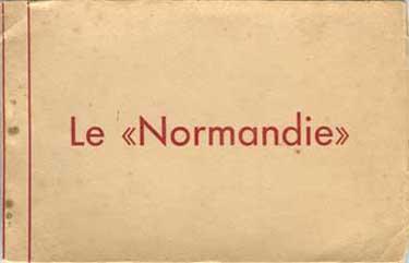PAQUEBOT S/S NORMANDIE CARNET DE CARTES POSTALES GRAND FORMAT EDUG
