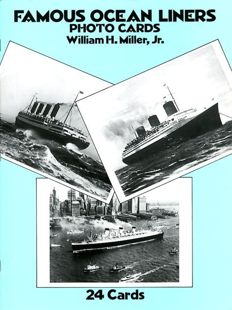 Paquebot Normandie - Cahier de Cartes postales Grand format glacées - William H. MILLER Jr, - ANGLETERRE