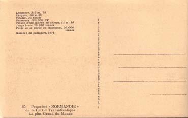 PAQUEBOT S/S NORMANDIE CARTE POSTALE PHOTO C.A.P - SCHILTIGHEIM