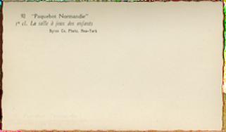 Paquebot Normandie - Carnet de photos petit format - Photo N92 LA SALLE A JEUX DES ENFANTS