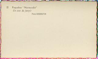 Paquebot Normandie - Carnet de photos petit format - Photo N22 UN COIN DU FUMOIR
