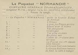 Paquebot Normandie - Carnet de photos petit format - Editeur : TITO - REF. SITE : CARPHOTTITO 1 - LEGENDES DES PHOTOS