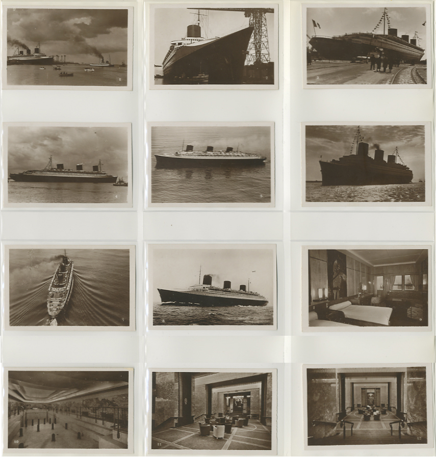 Paquebot Normandie - Carnet de photos petit format - Editeur : TITO - CARPHOTTITO 1 - PHOTOS 1 A 12