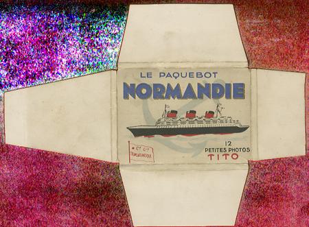 Paquebot Normandie - Carnet de photos petit format - Editeur : TITO - Carnet 1 : Etui extérieur