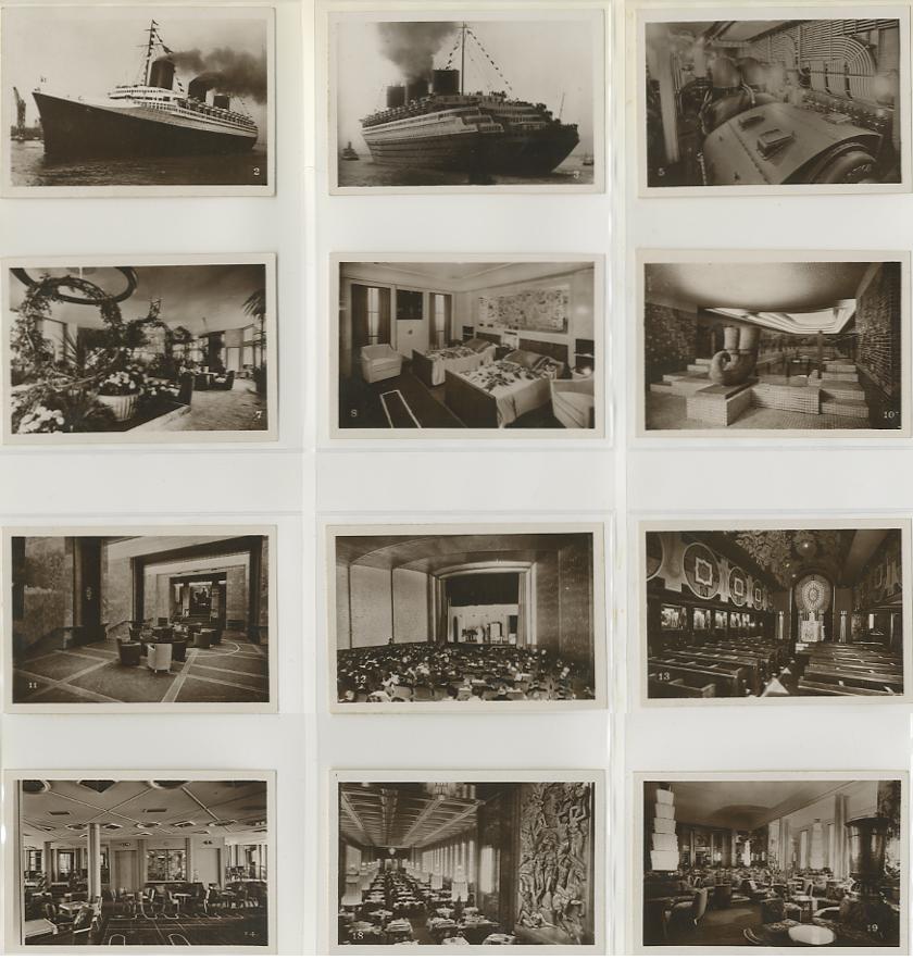 Paquebot Normandie - Carnet de photos petit format - Editeur : TITO - CARPHOTTITO 2 - PHOTOS 1 A 12