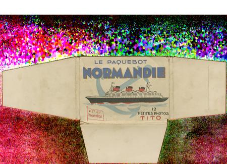 Paquebot Normandie - Carnet de photos petit format - Editeur : TITO - Carnet 3 : Etui extérieur