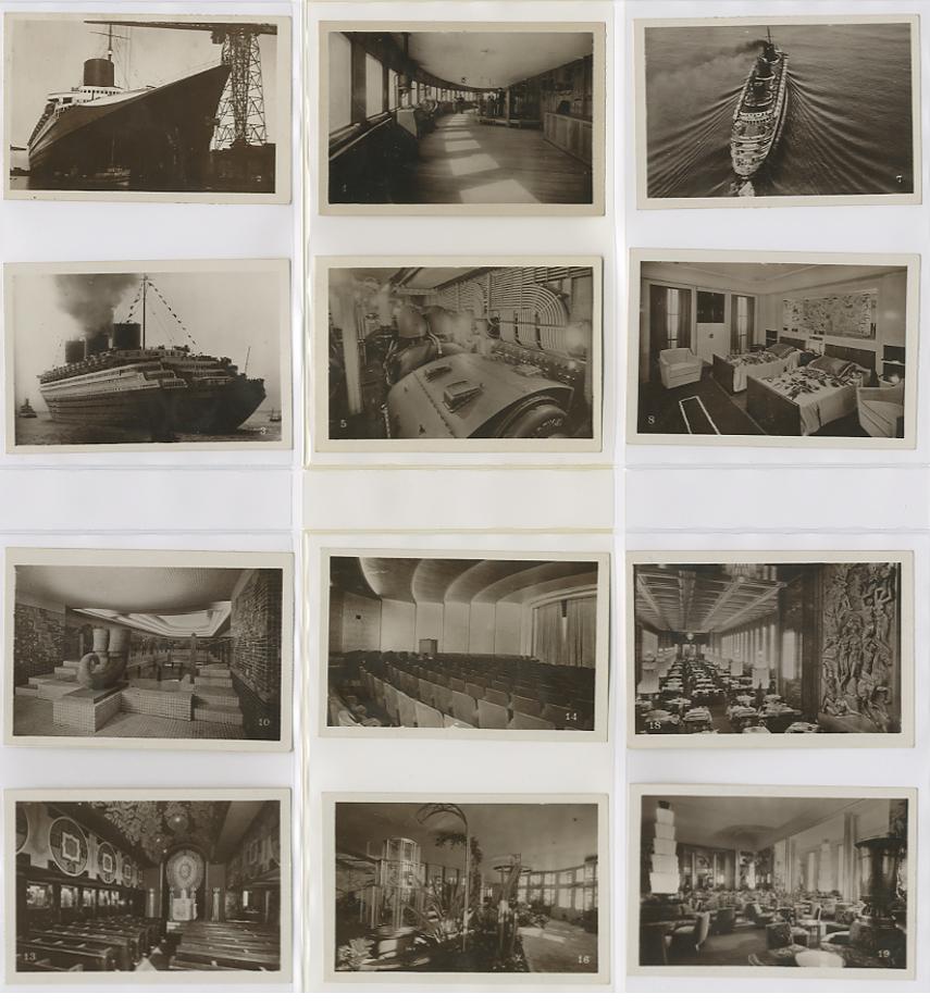 Paquebot Normandie - Carnet de photos petit format - Editeur : TITO - CARPHOTTITO 3 - PHOTOS 1 A 12
