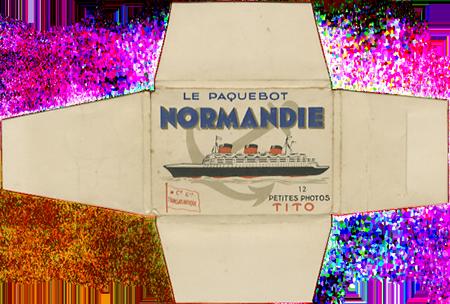 Paquebot Normandie - Carnet de photos petit format - Editeur : TITO - Carnet 4 : Etui extérieur