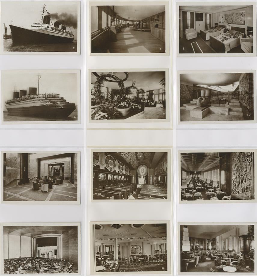 Paquebot Normandie - Carnet de photos petit format - Editeur : TITO - CARPHOTTITO 4 - PHOTOS 1 A 12