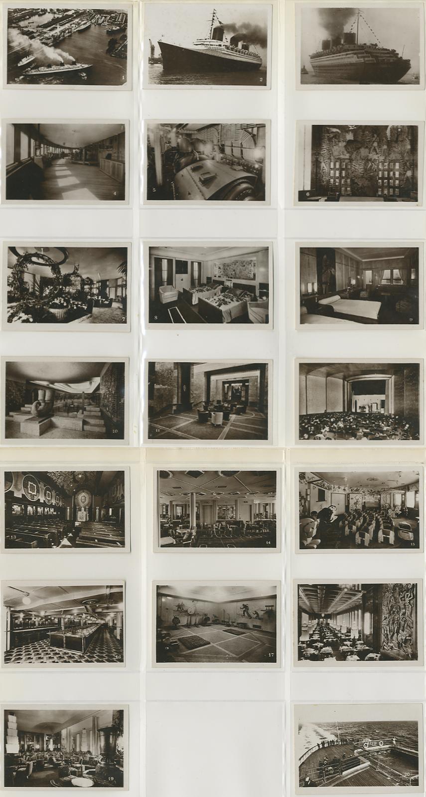Paquebot Normandie - Carnet de photos petit format - Editeur : TITO - CARPHOTTITO 5 ET 6 - PHOTOS 1 A 20