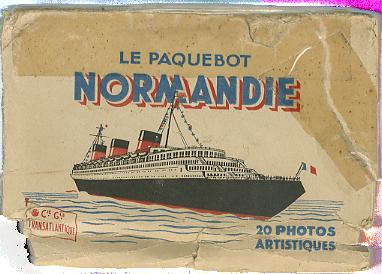 Paquebot Normandie - Carnet de photos petit format anonyme - Série 2 - Etui Recto