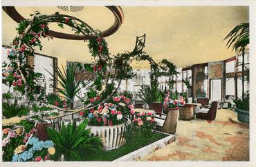 PAQUEBOT S.S NORMANDIE - Carte postale Glacée couleurs - Editeur LA CIGOGNE - Réf. site : CIGCOG 3-4 PSB - Le Jardin d`Hiver