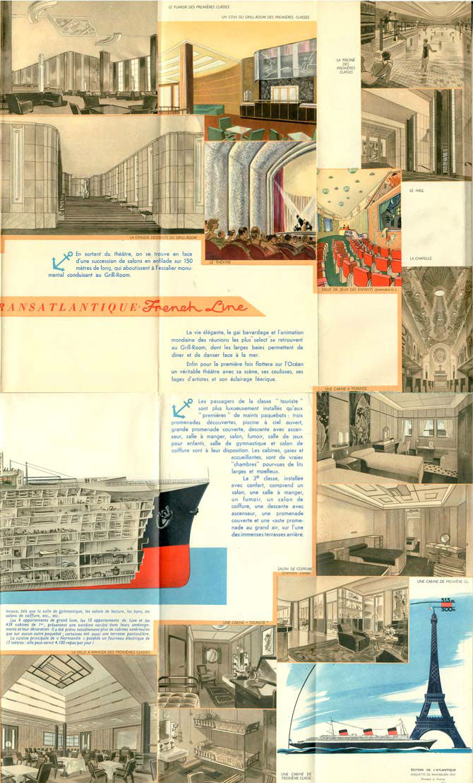 Chambre Luxe Normandie : Paquebot s normandie plan coupe longitudinale m vox
