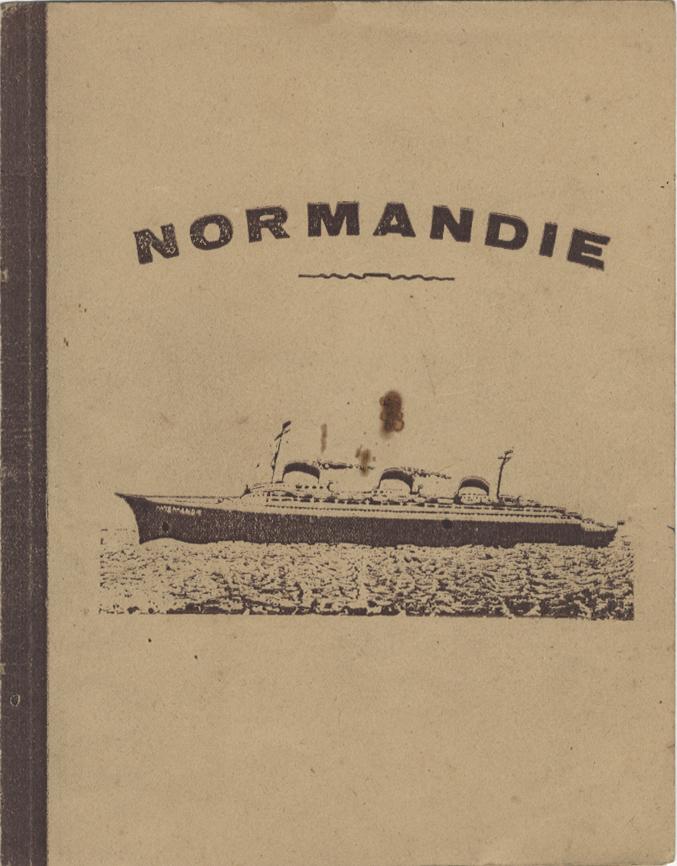 Paquebot Normandie - cahier