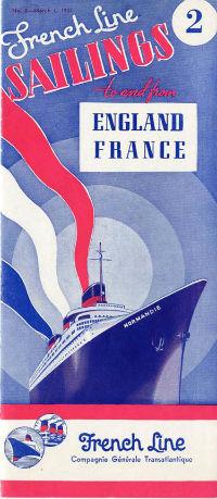 S.S NORMANDIE - CALENDRIER-TARIF 1937 - Réf. CT 1937-2