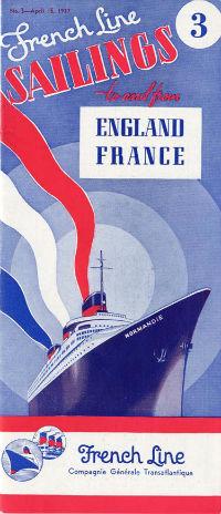 S.S NORMANDIE - CALENDRIER-TARIF 1937 - Réf. CT 1937-3