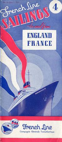 S.S NORMANDIE - CALENDRIER-TARIF 1937 - Réf. CT 1937-4