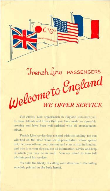 S.S. NORMANDIE - FLYER CALENDRIER CTD 1936-3