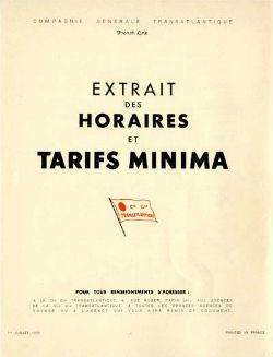 S.S NORMANDIE - CTD 1939/2 Couverture