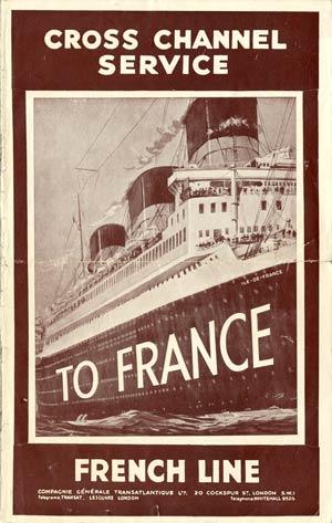 S.S NORMANDIE - CALENDRIER-TARIF 1935 - Réf. CTDA 1935-1
