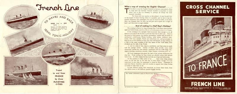 S.S NORMANDIE - CALENDRIER TRAINS TRANSATLANTIQUES CTDA 1935-1