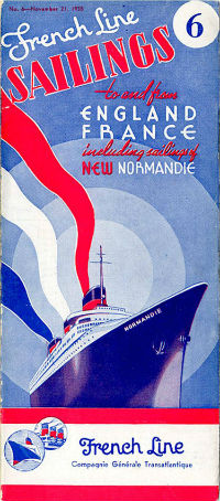PAQUEBOT SS NORMANDIE - CALENDRIER-TARIF 1935-6
