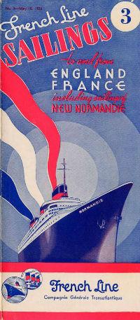 S.S NORMANDIE - CALENDRIER-TARIF 1936 - Réf. CTDUS 1936-3