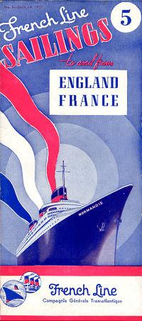 S.S NORMANDIE - CALENDRIER-TARIF 1937 - Réf. CT 1937-5