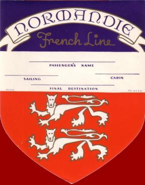 ETIQUETTE DE BAGAGE 1ère CLASSE BLASON 1-1937-1