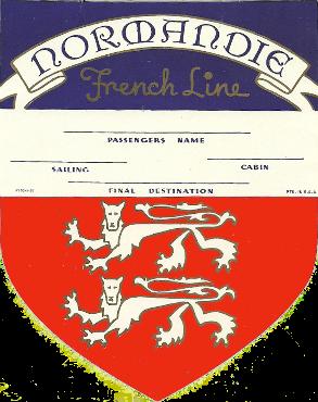 ETIQUETTE DE BAGAGE 1ère CLASSE - BLASON 1-1936-1