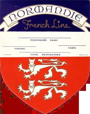 ETIQUETTE DE BAGAGE 1ère CLASSE - BLASON 1-1936-2