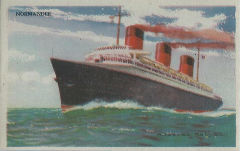 Paquebot Normandie - Carte de collection - Petit format EDUCATIONAL PICTURE 1-S