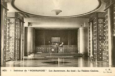 S.S NORMANDIE - CARTE POSTALE CLASSIQUE SEPIA EDITEUR ELD 10-1