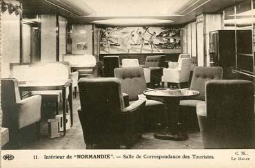 S.S NORMANDIE - CARTE POSTALE CLASSIQUE SEPIA EDITEUR ELD 10-11