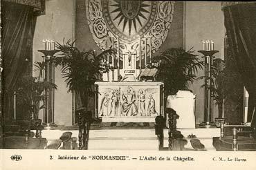 S.S NORMANDIE - CARTE POSTALE CLASSIQUE SEPIA EDITEUR ELD 10-2