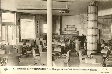 S.S NORMANDIE - CARTE POSTALE CLASSIQUE SEPIA EDITEUR ELD 10-6