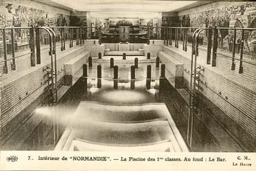 S.S NORMANDIE - CARTE POSTALE CLASSIQUE SEPIA EDITEUR ELD 10-7