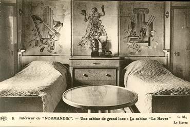S.S NORMANDIE - CARTE POSTALE CLASSIQUE SEPIA EDITEUR ELD 10-8