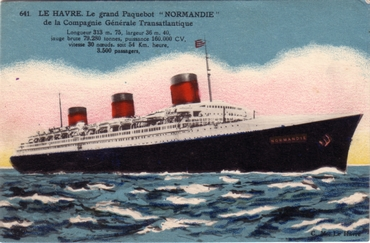 S.S NORMANDIE - Carte postale couleurs classique Edition ELD - Réf. 1-641-2 Recto