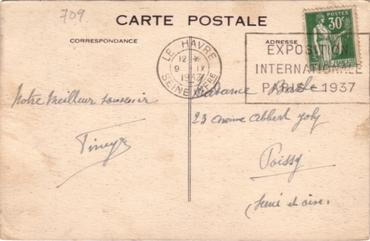 S.S NORMANDIE - Carte postale couleurs classique Edition ELD - Réf. 1-648-1 Verso