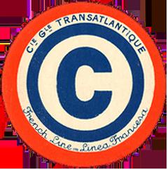 ETIQUETTE DE QUAI - LETTRE C - FRENCH LINE - LINEA FRANCESA