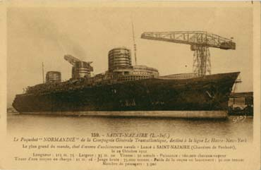 S/S NORMANDIE - Carte postale Petit format classique GAB-ARTC 2-2-159