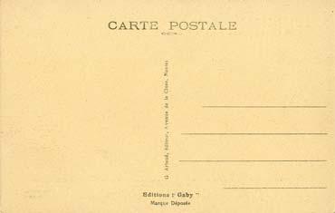 S/S NORMANDIE - Carte postale Petit format classique GAB-ARTC 4-1-183 Verso