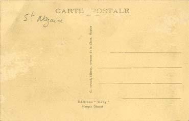 S/S NORMANDIE - Carte postale Petit format classique GAB-ARTC 4-3-186 Verso