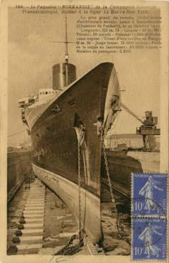 S/S NORMANDIE - Carte postale Petit format classique GAB-ARTC 5-2-166