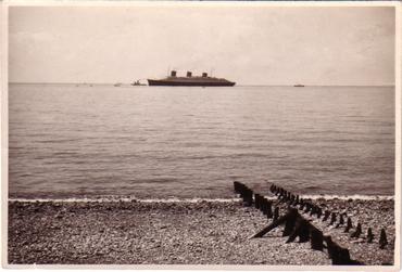 S.S NORMANDIE - Carte postale Jérome glacée noir et blanc - Réf. JEROG 1-1